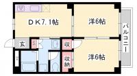 エンデバー矢倉[201号室]の間取り