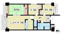 ライフ新神戸[402号室]の間取り