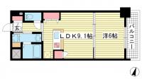 グルーブ三宮Aria[3階]の間取り