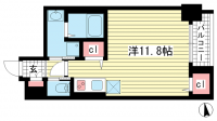 SDグランツ新神戸[4階]の間取り