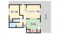 パセオ広畑Ⅱ[1階]の間取り
