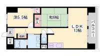 兵庫県高砂市春日野町の賃貸マンションの間取り