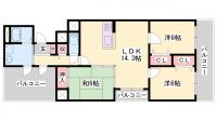 兵庫県姫路市東今宿2丁目の賃貸マンションの間取り