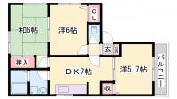 プレール網干Ⅱ A棟[1階]の間取り