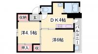 ビレッジハウス小坂[2-103号室]の間取り