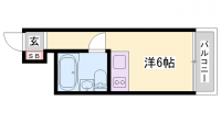 JOY姫路壱番館[4階]の間取り