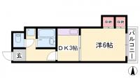 レジデンス西庄[305号室]の間取り