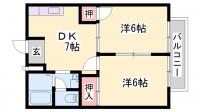 兵庫県加古郡播磨町西野添4丁目の賃貸アパートの間取り