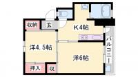 ビレッジハウス小坂[3-202号室]の間取り