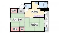 ビレッジハウス小坂[3-206号室]の間取り
