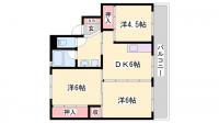 ビレッジハウス堀[1-405号室]の間取り