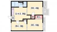グリーンハイツ宮田B[2階]の間取り