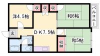 兵庫県姫路市楠町の賃貸マンションの間取り