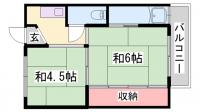 ビレッジハウス朝日ヶ丘[1-106号室]の間取り