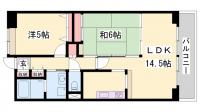 ライオンズマンション姫路東今宿[1205号室]の間取り