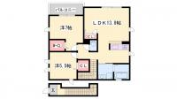 シャーメゾン亀山[2階]の間取り