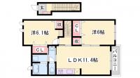 ジークフリーデンⅠ[2階]の間取り
