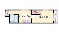 兵庫県姫路市元町の賃貸マンションの間取り