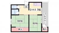 サンデックコーポ[1階]の間取り