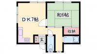 新在家ハウス[2-B号室]の間取り