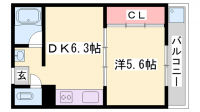 姫路マンション[503号室]の間取り