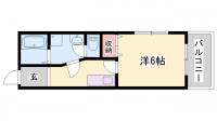 兵庫県姫路市田寺東4丁目の賃貸マンションの間取り