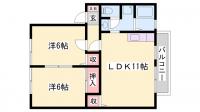 兵庫県姫路市下手野3丁目の賃貸アパートの間取り