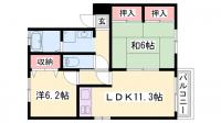 グレースコート東今宿[2階]の間取り