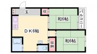 竹内マンション[301号室]の間取り