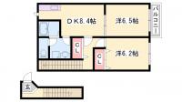 兵庫県高砂市阿弥陀町北池の賃貸アパートの間取り