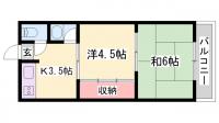 睦荘[1階]の間取り