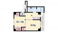 ビレッジハウス粟生3号棟[205号室]の間取り