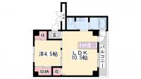 ビレッジハウス粟生3号棟[305号室]の間取り
