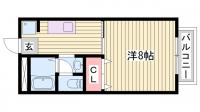 ハイネス野添Ⅱ[107号室]の間取り
