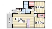 兵庫県加東市藤田の賃貸アパートの間取り