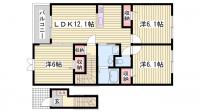モンレーヴⅠ[2階]の間取り