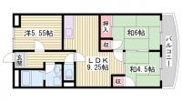 オークランドハイツ[2階]の間取り