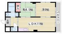 メゾン王塚台[302号室]の間取り