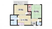 フラット松江[2階]の間取り