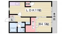 金尾塚シティハイツ[1階]の間取り