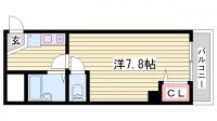 サングレイス西新町[402号室]の間取り
