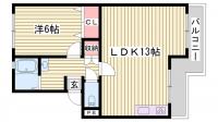 西本マンション[3階]の間取り