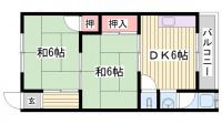 千寿荘[201号室]の間取り