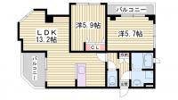 中西第2ハイツ[2階]の間取り