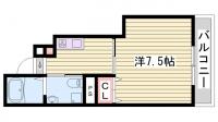 兵庫県明石市野々上1丁目の賃貸アパートの間取り