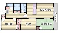 セゾン伊川谷[6階]の間取り
