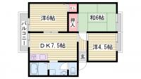 兵庫県加古郡播磨町西野添2丁目の賃貸アパートの間取り