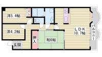 サバービアシティ21C棟[5階]の間取り