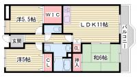 兵庫県神戸市西区池上5丁目の賃貸マンションの間取り