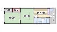 富士見ヶ丘ショッピングプラザB[206号室]の間取り